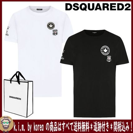 D SQUARED2 Tシャツ・カットソー 追跡★関税★送料込/D SQUARED2/WAPPEN LOGO T-SHIRT