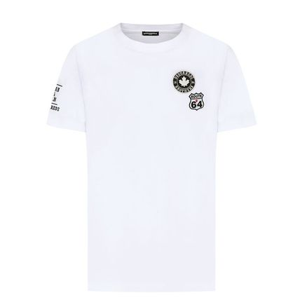 D SQUARED2 Tシャツ・カットソー 追跡★関税★送料込/D SQUARED2/WAPPEN LOGO T-SHIRT(8)