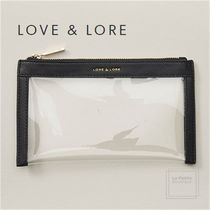 LOVE & LORE(ラブアンドロアー) ポーチ Love and lore〇ビーガン〇クリア☆便利収納ポーチ19㎝X7㎝