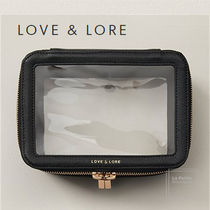 LOVE & LORE(ラブアンドロアー) ポーチ Love and lore〇ビーガン〇クリア☆便利収納ポーチ26.5㎝X13㎝
