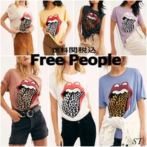 Free People Stones Flocked Leopard Tonggue Tシャツ 7色送関込