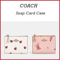 【COACH】Snap Card Case 可愛いちょうちょ柄、てんとう虫柄