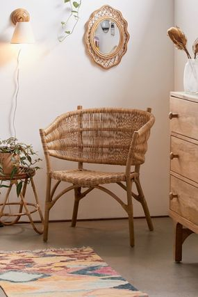 Urban Outfitters 椅子・チェア 大人気★ Urban Outfitters  Rattan Arm Chair ラタンチェアー(7)