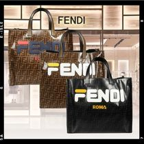 【Fendi】FF LOGO FABRIC SHOPPER トートバッグ