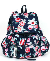 """SALE ! ☆US LeSportsac """"NAVY ROSE"""" VOYAGER B PACK 7839-D782"""