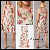 【Phase Eight】Shae Embroidered Dress シアー 花柄 クリーム