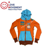 "A LOVE MOVEMENT Women's Cashmere Zip Hoodie ""RECYCLE"""