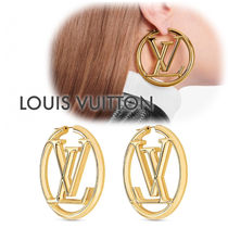 """【LOUIS VUITTON】""""LOUISE HOOP"""" ルイーズフープピアス☆M64288"""