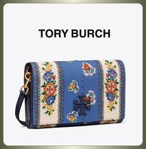 【TORY BURCH】便利で使い易い♪MCGRAW FLORAL WALLET CROSSBODY