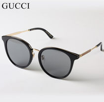 ◆GUCCI◆ Black Gold Sunglasses