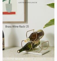 お家時間を有意義に*Anthropologie  Brass Wine Rack  S size