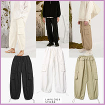 ◆LAFUDGE STORE Wide Cargo Jogger Pantsジョガーパンツ 全3色