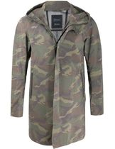 【HERNO】 camouflage-print hooded jacket