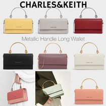 日本未入荷/送関込☆CHARLES&KEITH Metallic handle 長財布