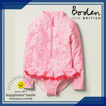 Boden(ボーデン) 洗剤・清掃グッズ Boden ラッフル長袖水着 Ivory/Pink Bloom Shadow Bloom