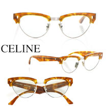CELINE CAT EYE ACETATE SUNGLASSES WITH MINERAL GLASS LENSES