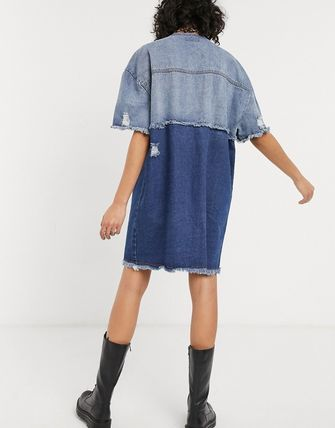 ASOS ワンピース 国内発★ASOS限定★One Above Another shirt ドレス(2)