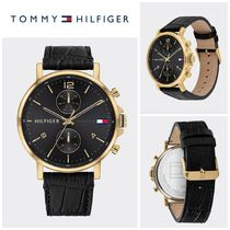 【Tommy Hilfiger】SPORT DRESS WATCH WITH LEATHER STRAP