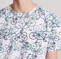 "RESERVED(リザーブド) Tシャツ・カットソー ""RESERVED MEN"" BICYCLE PRINT T-SHIRT WHITE"
