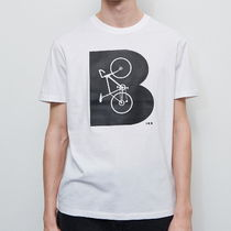 "RESERVED(リザーブド) Tシャツ・カットソー ""RESERVED MEN"" B-BICYCLE PRINT T-SHIRT WHITE"