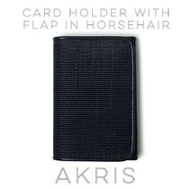 Akris*Card holder with flap in horsehair カードホルダー◇