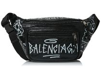 BALENCIAGA★grafitti belt bag black【謝恩品EMS関税込】