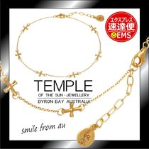 AUバイロンベイ発★TEMPLE OF THE SUN★Cross Anklet Gold