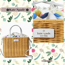 kate spadeかごバック★sam wicker lemon zest medium satchel