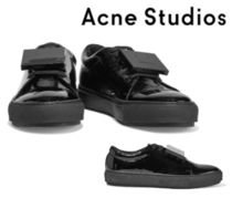 Acne Studios☆Adriana embellished crinkled patent-leather 靴