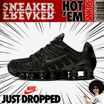 【ナイキ】NIKE SHOX TL SNEAKERS IN BLACK