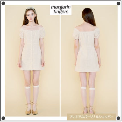 Margarin Fingers ワンピース 日本未入荷MARGARIN FINGERSのcheck square neck one piece
