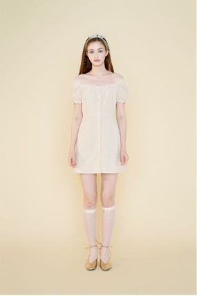 Margarin Fingers ワンピース 日本未入荷MARGARIN FINGERSのcheck square neck one piece(11)