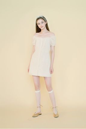 Margarin Fingers ワンピース 日本未入荷MARGARIN FINGERSのcheck square neck one piece(4)