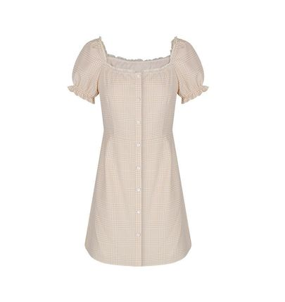 Margarin Fingers ワンピース 日本未入荷MARGARIN FINGERSのcheck square neck one piece(6)