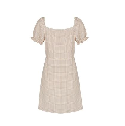 Margarin Fingers ワンピース 日本未入荷MARGARIN FINGERSのcheck square neck one piece(7)
