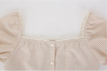 Margarin Fingers ワンピース 日本未入荷MARGARIN FINGERSのcheck square neck one piece(8)
