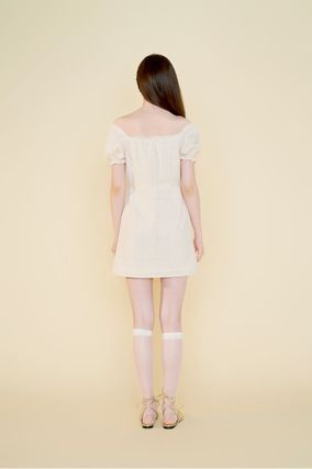 Margarin Fingers ワンピース 日本未入荷MARGARIN FINGERSのcheck square neck one piece(5)
