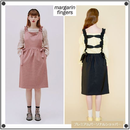 Margarin Fingers ワンピース 日本未入荷MARGARIN FINGERSのribbon detail one piece 全2色