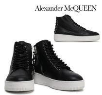Alexander McQueen☆Netil lace-up textured-leather sneakers