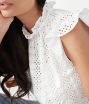 """""""& Other Stories"""" Frilled Broderie Anglaise Blouse White"""