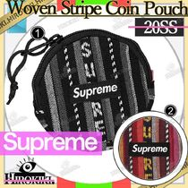 20SS /Supreme Woven Stripe Coin Pouch ロゴ コイン ポーチ