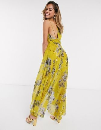 ASOS ワンピース 送関込●ASOS●wrap front maxi dress with dipped hem(2)