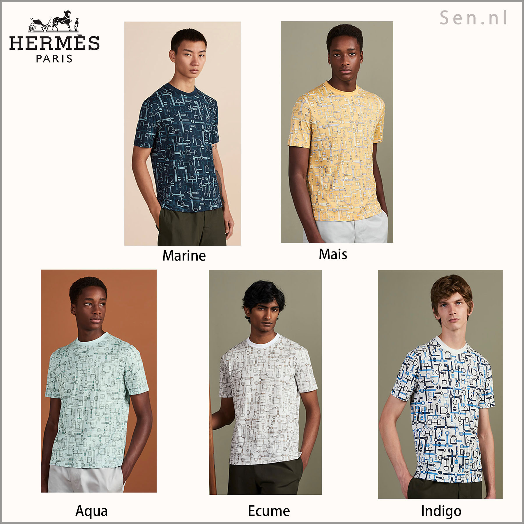 HERMES(エルメス)  Tシャツ《Labyrinthe Equestre》 2020SS (HERMES/Tシャツ・カットソー) 53778088