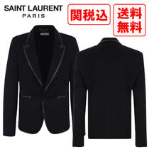 関税・送料込 Saint Laurent FAUX LEATHER TRIMS ジャケット