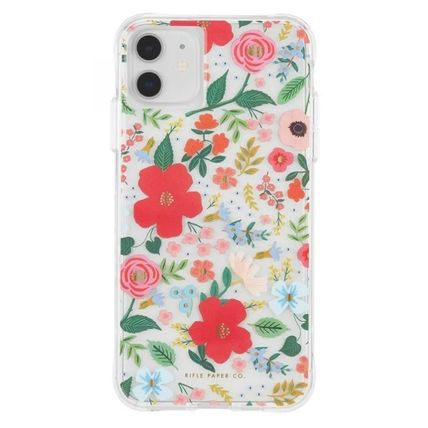 Rifle Paper.Co スマホケース・テックアクセサリー [追跡あり] Rifle Paper Co.★ iphone case - Clear Wild Rose(2)