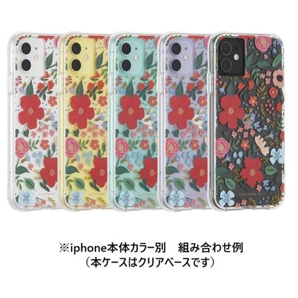 Rifle Paper.Co スマホケース・テックアクセサリー [追跡あり] Rifle Paper Co.★ iphone case - Clear Wild Rose(3)