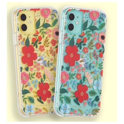 Rifle Paper.Co スマホケース・テックアクセサリー [追跡あり] Rifle Paper Co.★ iphone case - Clear Wild Rose(4)