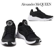 Alexander McQueen☆Gishiki leather-trimmed stretch-knit 靴