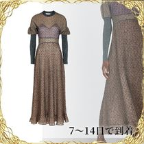 ◆関税込◆Panelled metallic-knit dress