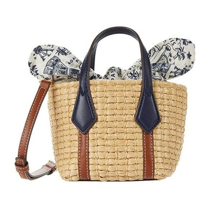 2way★Tory Burchミニカゴトートバッグ Perry Straw Nano Tote